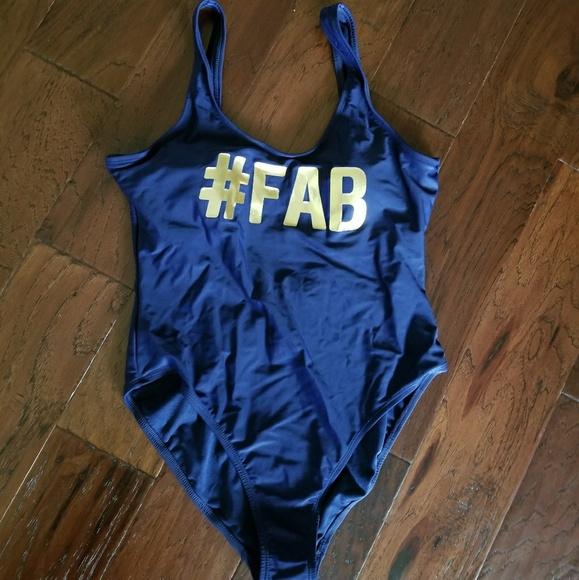 a7f067b15ff No Boundaries Swim | Navy Gold One Piece Suit | Poshmark